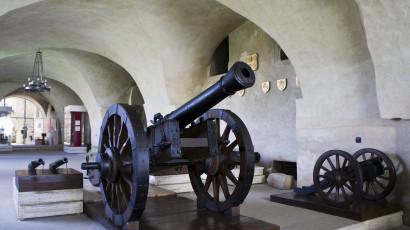 Spišský hrad - pohľad na jeden z exponátov