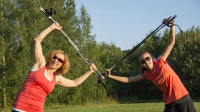 Nordic walking, dôležité je na začiatku zahriať telo