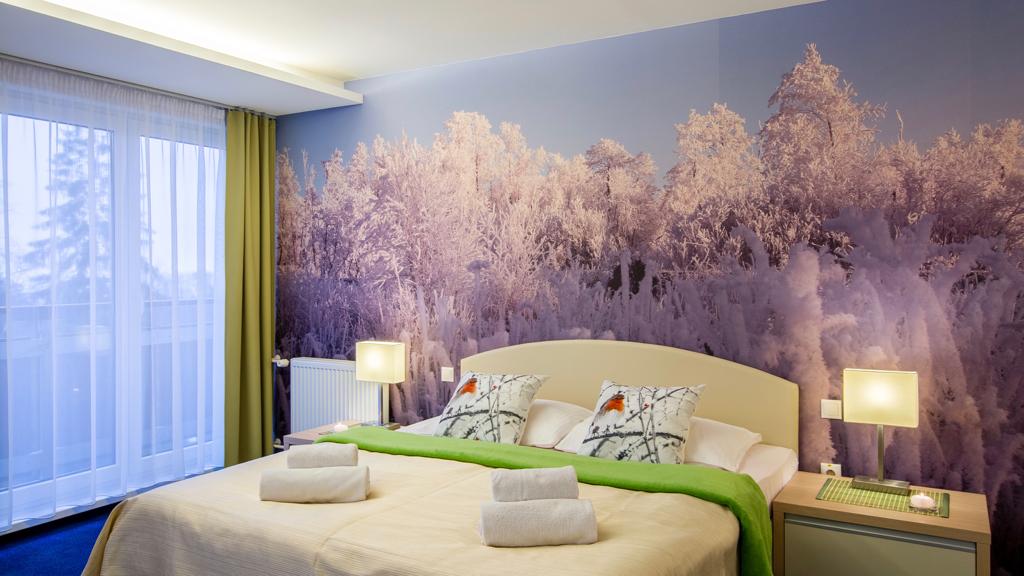 Room PLUS Family. Stylish accommodation with spacious bedroom. Hotel SLOVAN Tatranská Lomnica.