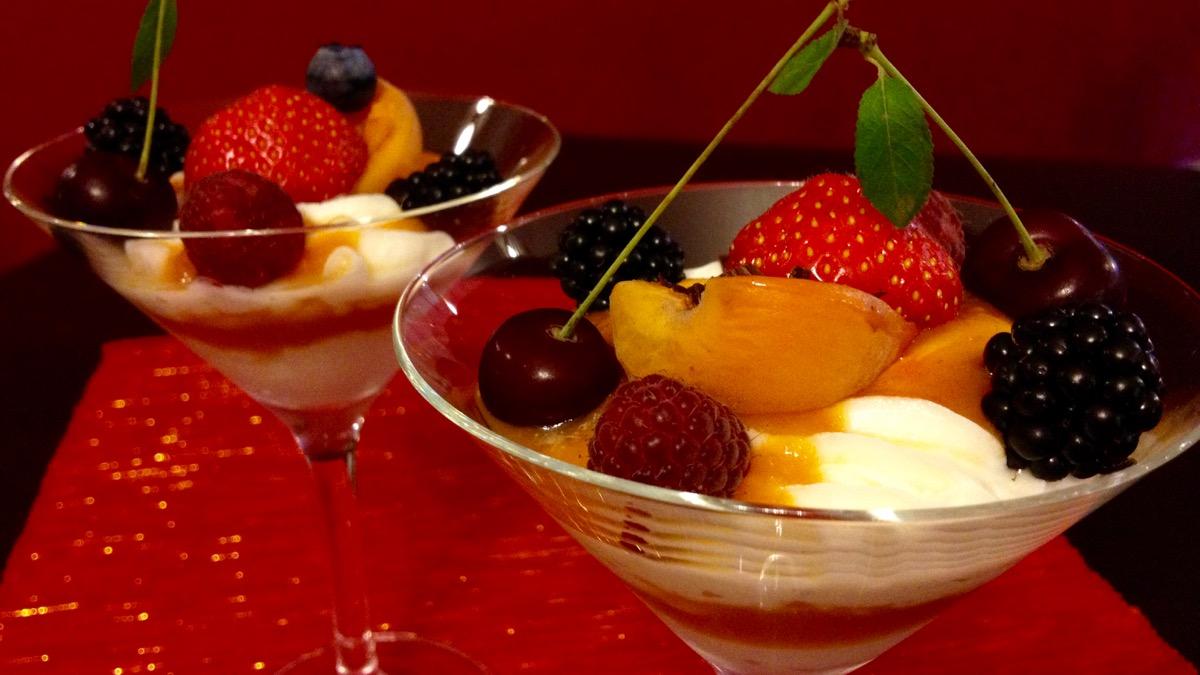 Čerstvý ovocný pohár